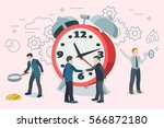 startup work moments. man with... | Shutterstock .eps vector #566872180