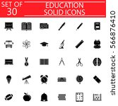 education solid pictograms... | Shutterstock .eps vector #566876410
