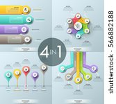 Bundle Of 4 Infographic Design...