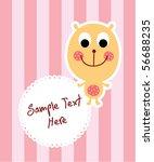 cute teddy bear tag | Shutterstock .eps vector #56688235