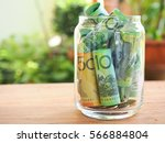 australia bank note saving in... | Shutterstock . vector #566884804