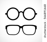 eyeglasses vector icon on white ... | Shutterstock .eps vector #566891668