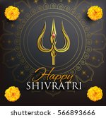 greeting card for shivratri  a... | Shutterstock .eps vector #566893666