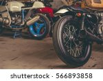 Cropped Image Of Motorcycles I...