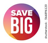save big button vector purple | Shutterstock .eps vector #566896120