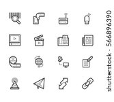 communication element vector... | Shutterstock .eps vector #566896390
