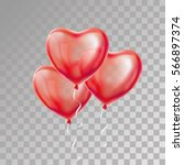heart red transparent balloon...