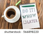 Time Management Concept With Notes On Notebook - stock photo