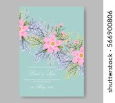 elegance wedding invitation... | Shutterstock .eps vector #566900806