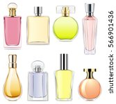 vector perfume icons | Shutterstock .eps vector #566901436