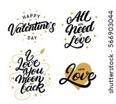 set of hand written lettering... | Shutterstock .eps vector #566903044