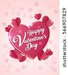 happy valentines day vector...   Shutterstock .eps vector #566907829