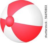 beach ball | Shutterstock .eps vector #56690803