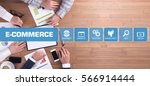 e commerce concept with icon set | Shutterstock . vector #566914444