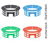 stadium icon   colored vector ... | Shutterstock .eps vector #566914864