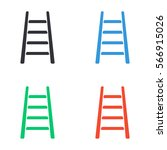 step ladder icon   colored... | Shutterstock .eps vector #566915026