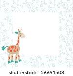 baby frame or invitation  for... | Shutterstock .eps vector #56691508