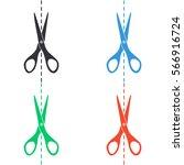 scissors icon   colored vector  ... | Shutterstock .eps vector #566916724