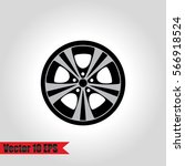 wheel  tyre and tire icon.... | Shutterstock .eps vector #566918524