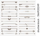 a large set of dividers. vector ... | Shutterstock .eps vector #566920249