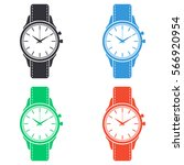 wristwatch icon   colored... | Shutterstock .eps vector #566920954