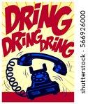 retro phone ringing loudly...