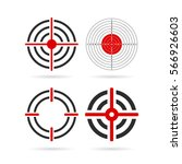 shooting target vector icon set ... | Shutterstock .eps vector #566926603