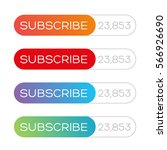 subscribe button vector | Shutterstock .eps vector #566926690