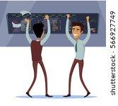 business team work success... | Shutterstock . vector #566927749