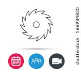 circular saw icon. cutting disk ...   Shutterstock .eps vector #566934820