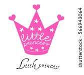 crown little princess  vector ... | Shutterstock .eps vector #566943064