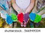 hands   palms of young people... | Shutterstock . vector #566949334
