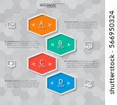 vector abstract 3d paper... | Shutterstock .eps vector #566950324