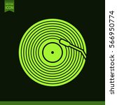 vinyl record vector icon. | Shutterstock .eps vector #566950774