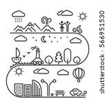 landscape linear elements... | Shutterstock .eps vector #566951530