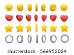 colorful game icons set of gold ... | Shutterstock .eps vector #566952034