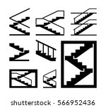 stairs vector | Shutterstock .eps vector #566952436