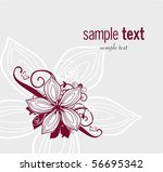 style floral background