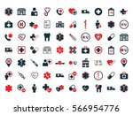 medical icons set on white... | Shutterstock .eps vector #566954776