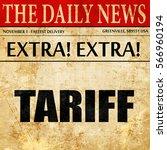 tariff  newspaper article text