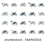 electric bicycle  e bike icons... | Shutterstock .eps vector #566963563