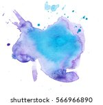 colorful abstract watercolor... | Shutterstock . vector #566966890