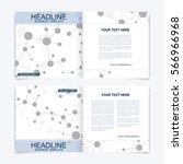 templates for square brochure.... | Shutterstock .eps vector #566966968