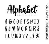 hand drawn vector alphabet ... | Shutterstock .eps vector #566967754