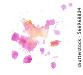 colorful abstract watercolor...   Shutterstock . vector #566968834