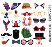 fashion accessories design... | Shutterstock .eps vector #566972074