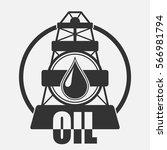 oil company logo. vector icon... | Shutterstock .eps vector #566981794