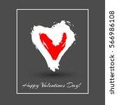 vector watercolor heart. happy... | Shutterstock .eps vector #566986108