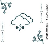 cloud with snow and rain icon   Shutterstock .eps vector #566988820