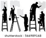 painting service vector... | Shutterstock .eps vector #566989168